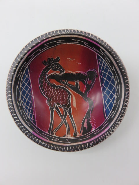 <span style='font-size:1em'>Hand Painted Bowl (small)</span><br><span style='font-size:0.7em'>Hand Carved Soapstone</span>