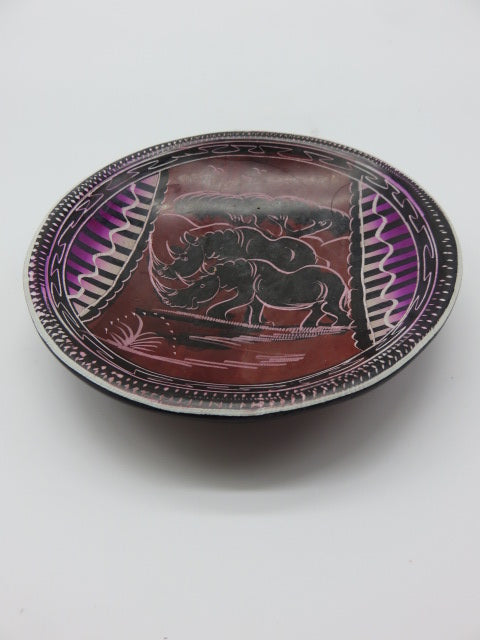 Painted Bowl (medium)<br><span style='font-size:75%'>Hand Carved Soapstone<br>1.18 x 5.90'', 0.81 lbs</span>