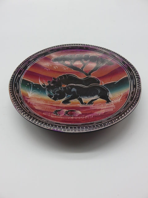 Painted Bowl (medium)<br><span style='font-size:75%'>Hand Carved Soapstone<br>1.18 x 5.90'', 0.83 lbs</span>