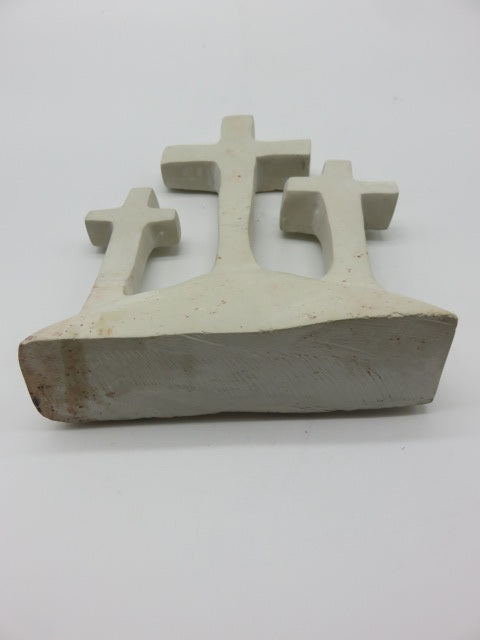 Crosses on Hill<br><span style='font-size:75%'>carved from Stone<br>8.66 x 6.49 x 1.96'', 2.97 lbs</span>