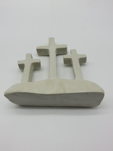 Hand Carved Crosses<br><span style='font-size:75%'>from White Opal Stone<br>8.26 x 7.08 x 1.96'', 2.91 lbs</span>