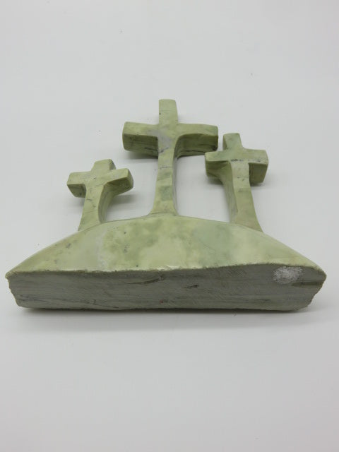 Hand Carved Crosses<br><span style='font-size:75%'>from Butter Jade Stone<br>8.26 x 7.87 x 1.96'', 3.19 lbs</span>