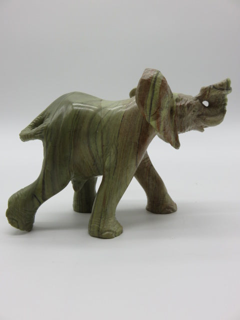 <span style='font-size:1em'>Elephant</span><br><span style='font-size:0.7em'>Hand Carved Butter Jade Stone</span>