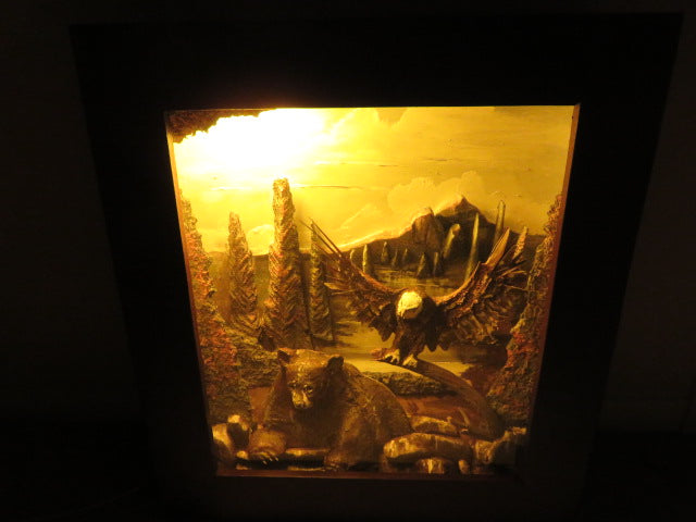 3D Light<br><span style='font-size:75%'>Bear and eagle themed<br>27.16 x 24.4 x 5.9'', 22.04 lbs</span>