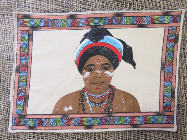 African Woman Print<br><span style='font-size:75%'>Padded Placemats<br>14.96 x 10.62'', 0.15 lbs each</span>