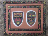 Mask/Drum Prints<br><span style='font-size:75%'>Padded Placemat Set<br>14.2 x 11.8'', 0.13 lbs each</span>