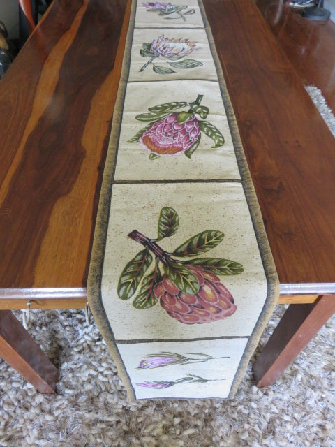 Protea Print<br><span style='font-size:75%'>Table Runner<br>96 x 11.8'', 0.22 lbs</span>