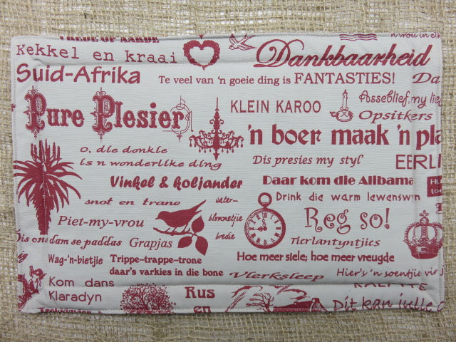 Afrikaans Print<br><span style='font-size:75%'>Padded Placemat Set<br>16.90 x 11.00'', 0.15 lbs each</span>