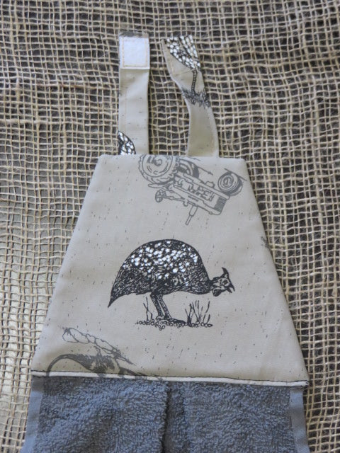 Guinea Fowl Print<br><span style='font-size:75%'>Padded Placemat Set<br>16.50 x 11.70'', 0.13 lbs</span>