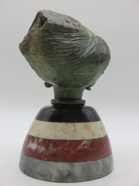 Female Bust<br><span style='font-size:75%'>Various Hand Carved Stones<br>6.69 x 4.33 x 4.13'', 5.40 lbs</span>