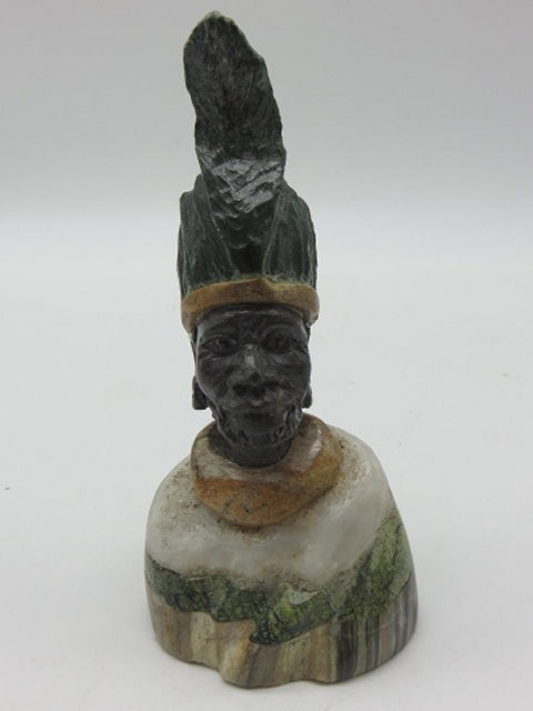 Hand Carved Bust (small)<br><span style='font-size:75%'>from Various Stones<br>4.72 x 1.97 x 1.97'', 0.51 lbs</span>