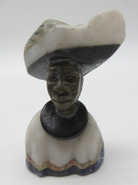 Hand Carved Bust (small)<br><span style='font-size:75%'>from Various Stones<br>3.15 x 1.97 x 1.57'', 0.42 lbs</span>