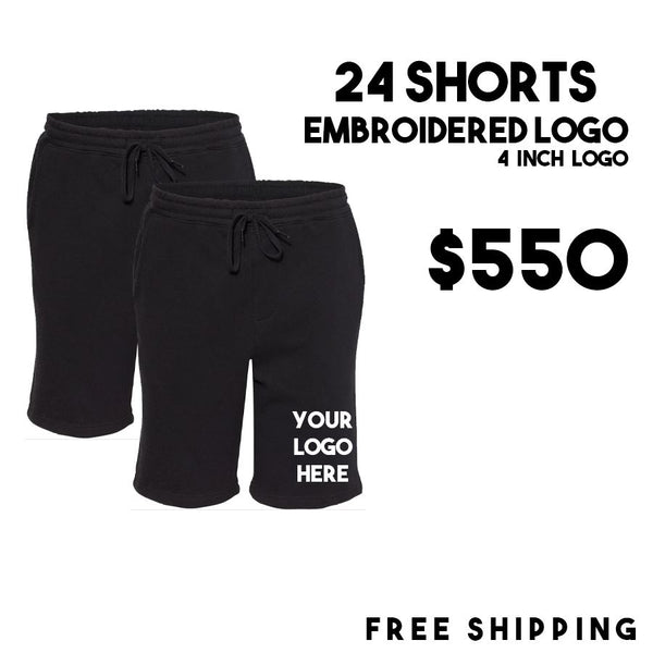 24 Embroidered Shorts