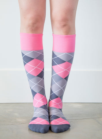 Argyle Synthetic Pink/Grey - Women's Medical