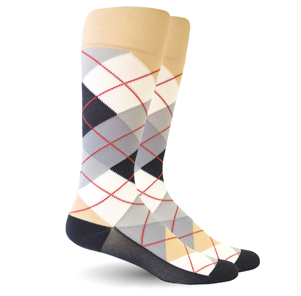 Argyle Synthetic Beige/White - Women's Medical