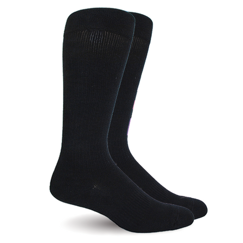 Solid Black Socks - Men's Medical
