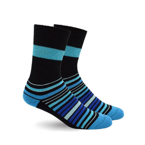 DIABETIC SOCKS - BLUE STRIPES