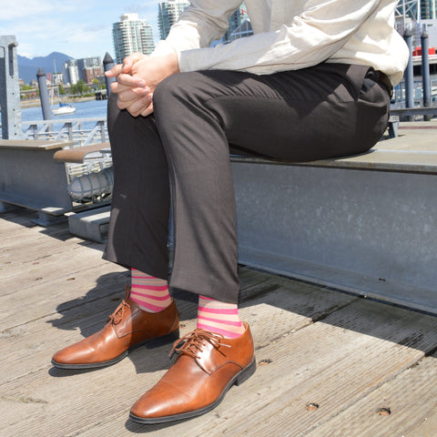 Stripe Cotton Pink - Medical Compression Socks