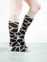 Giraffe Black/Brown - Synthetic Women's Medical - 20-30mmHg