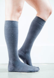 Solid Grey Socks - Women's Medical