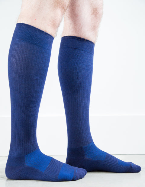Solid Navy Socks - Men's Medical