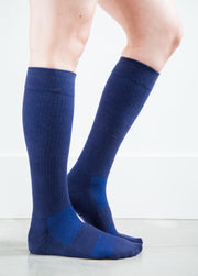 Solid Navy Socks - Women's Medical