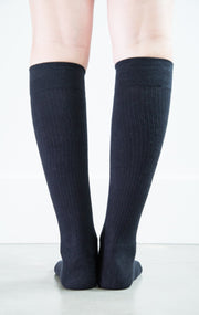 Solid Black Socks - Synthetic - Women's Medical