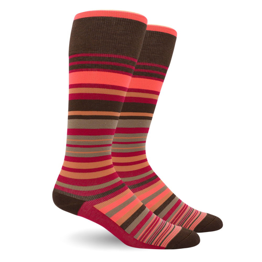 Dr. Segal's Pink Stripe Compression Sock A510C33