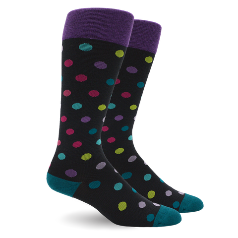 POLKA DOT MULTI COLOR COTTON ENERGY SOCKS