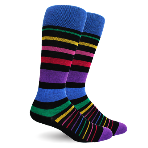 Stripe Cotton Multi-colour Socks - Women's Medical
