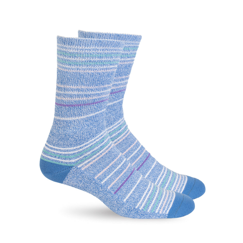 Diabetic Socks - Sky Blue Stripes