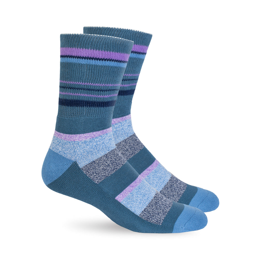 Diabetic Socks - Dusk Blue Stripes