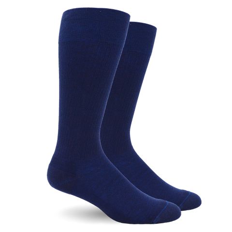 Solid Cotton Navy Energy Socks