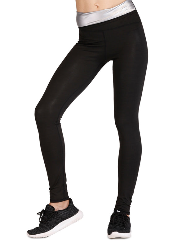 Black Tightening High-waist Rapid Sweating Pants