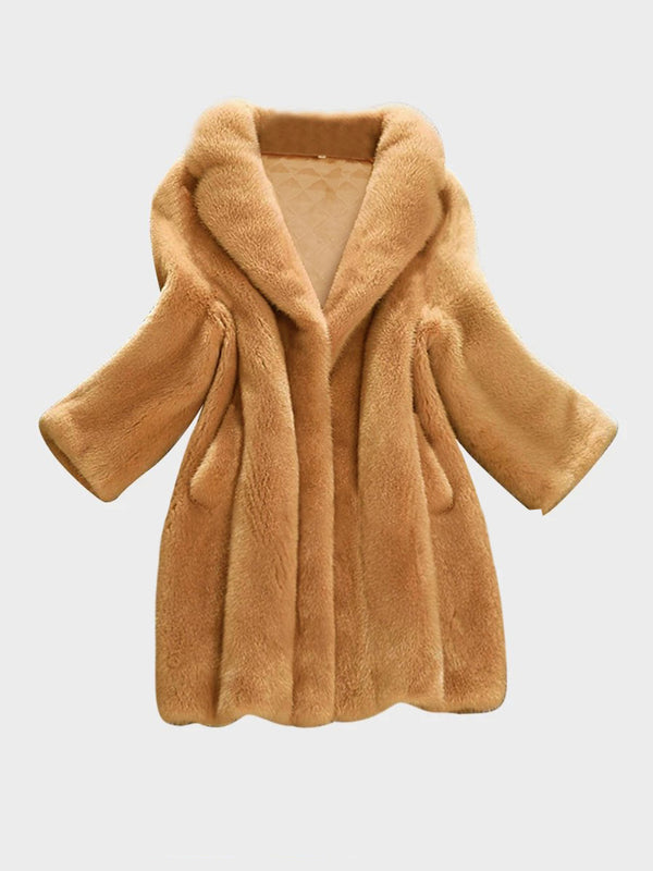 Women Faux Fur Winter Teddy Coat
