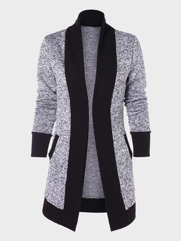 Women's Medium Length Knitted Pocket Cardigan