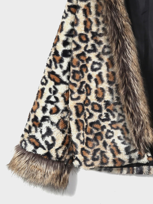 Women's Hooded Leopard Short Coats