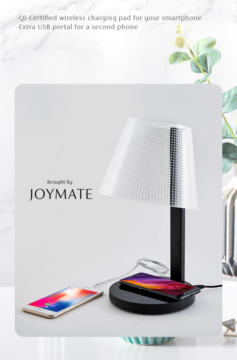 KONG - Dimmable No Bulb LED Table Lamp Wireless Charger (Black)