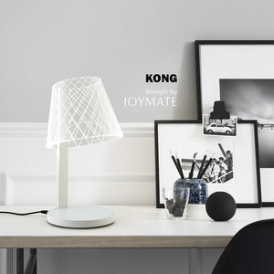 KONG Dimmable No Bulb LED Desk Lamp Wireless Charger with Voice Control (White)