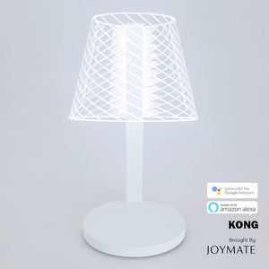 KONG - Dimmable No Bulb LED Table Lamp Wireless Charger with Voice Control (White)