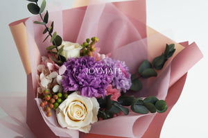Preserved Flower Bouquet - Virgin | JOYMATE