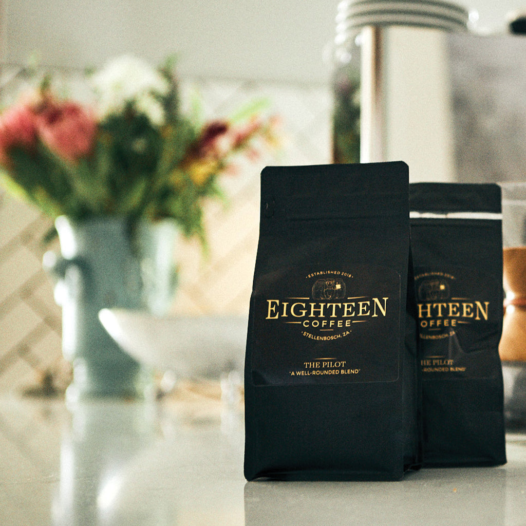 The first blend from the team at 18 (Eighteen) Coffee. The Pilot was named after the first episode of every series, called the Pilot. The premium quality black bag has a resealable zip lock as well as a one way valve to allow the coffee to degas.