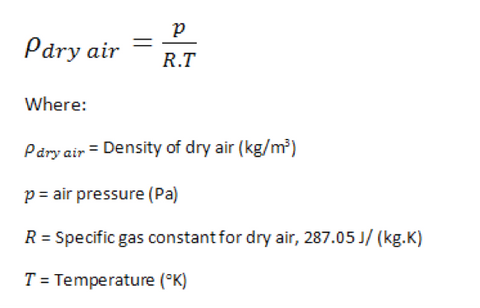 air density equation