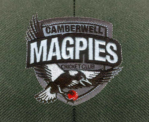 Masuri Original Series MK2 JUNIOR Test Helmet with Steel Grille - Camberwell Magpies CC