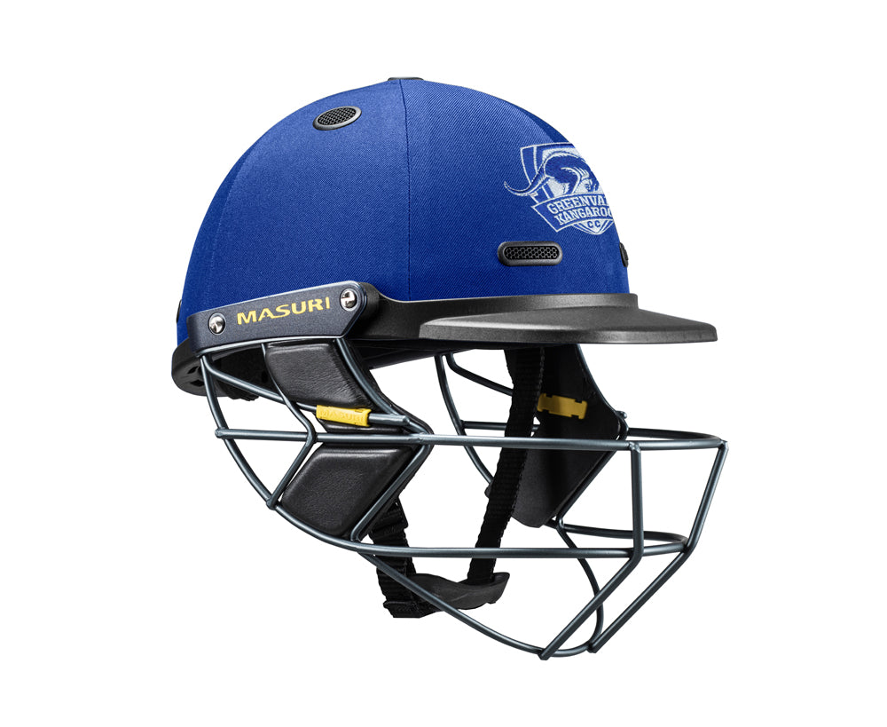 Masuri SENIOR Vision Series Test Helmet with Steel Grille - Greenvale Kangaroos CC