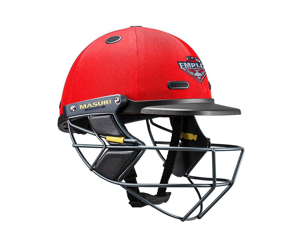 Masuri SENIOR Vision Series Test Helmet with Steel Grille - Essendon Maribyrnong Park Ladies CC