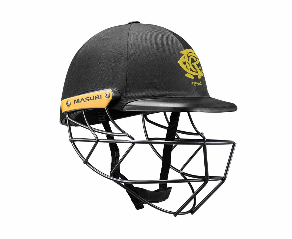 Masuri Original Series MK2 SENIOR Legacy Plus Helmet with Steel Grille - Monash Tigers CC