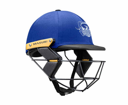 Masuri Original Series MK2 JUNIOR Test Helmet with Steel Grille - Greenvale Kangaroos CC