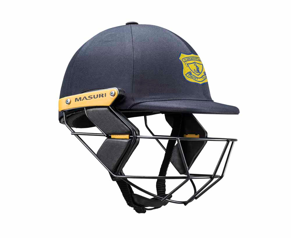 Masuri Original Series MK2 JUNIOR Test Helmet with Steel Grille - St Brigid's / St Louis CC