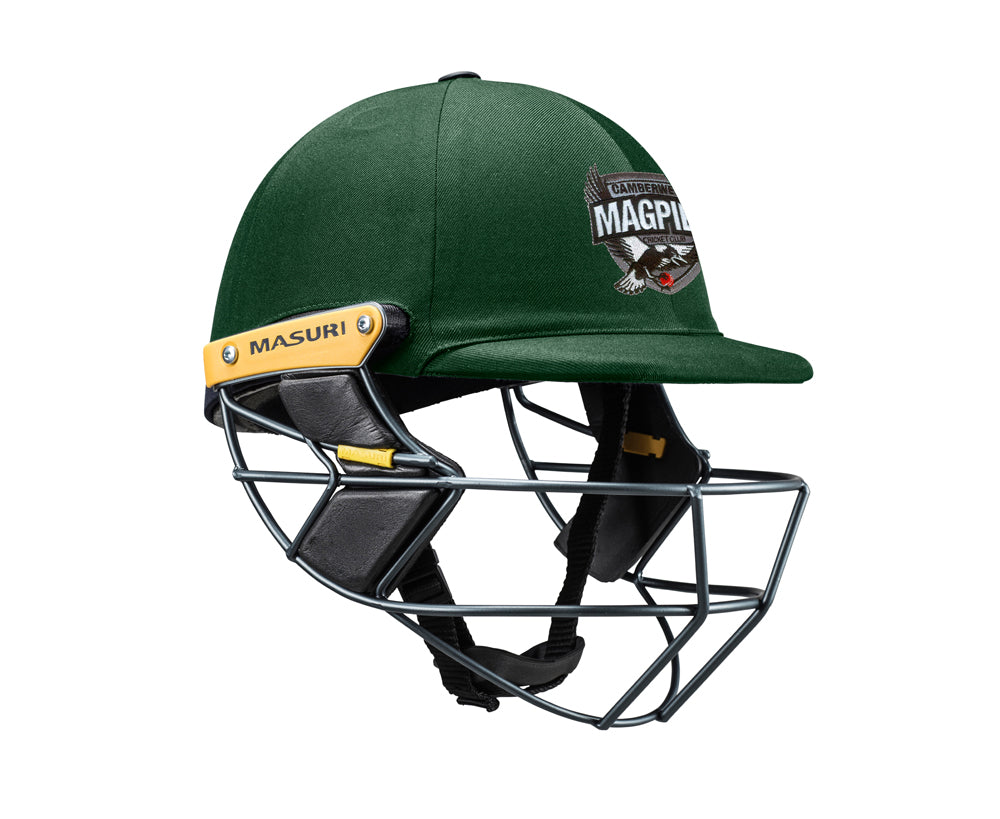Masuri Original Series MK2 SENIOR Test Helmet with Steel Grille - Camberwell Magpies CC